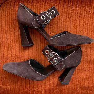 Vintage Prada suede heels